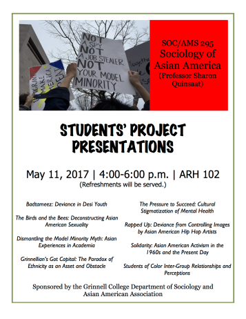 Flier-SocAsianAm Project Presentation
